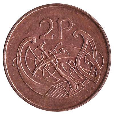2 Pence coin Ireland
