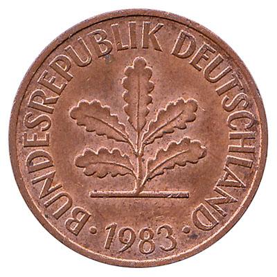 2 Pfennig coin Germany