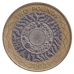 2 Pounds Sterling coin Great Britain