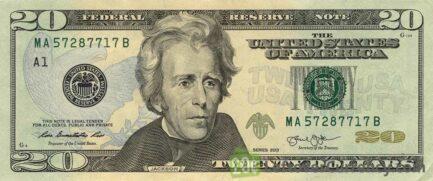 20 American Dollars banknote