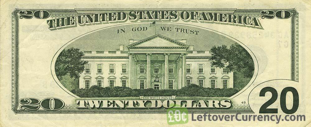 20 American Dollars banknote series 1996