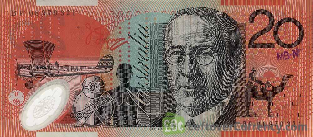 20 Australian Dollars banknote (Mary Reibey)