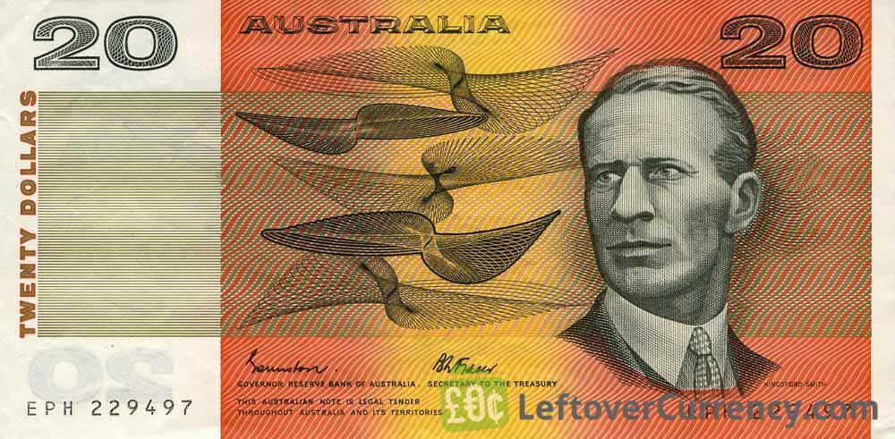 20 Australian Dollars banknote series 1974