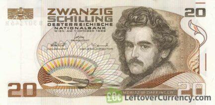 20 Austrian Schilling banknote (Moritz Daffinger)