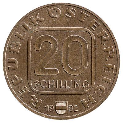 20 Austrian Schilling coin