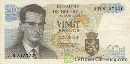20 Belgian Francs Treasury banknote (King Baudouin I)