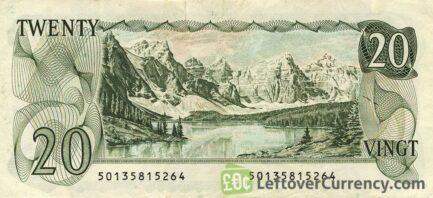 20 Canadian Dollars banknote (Lake Moraine Scenes of Canada)