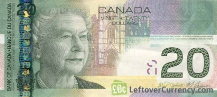 20 Canadian Dollars banknote (native art Canadian Journey)