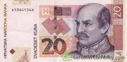 20 Croatian Kuna banknote series 2001
