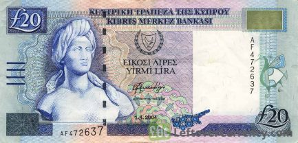 20 Cypriot Pounds banknote series 1997