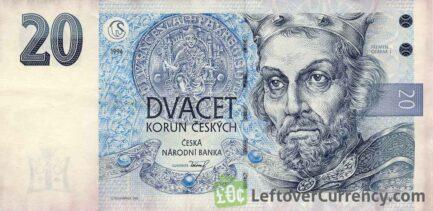 20 Czech Koruna banknote (King Premysl Otakar I)