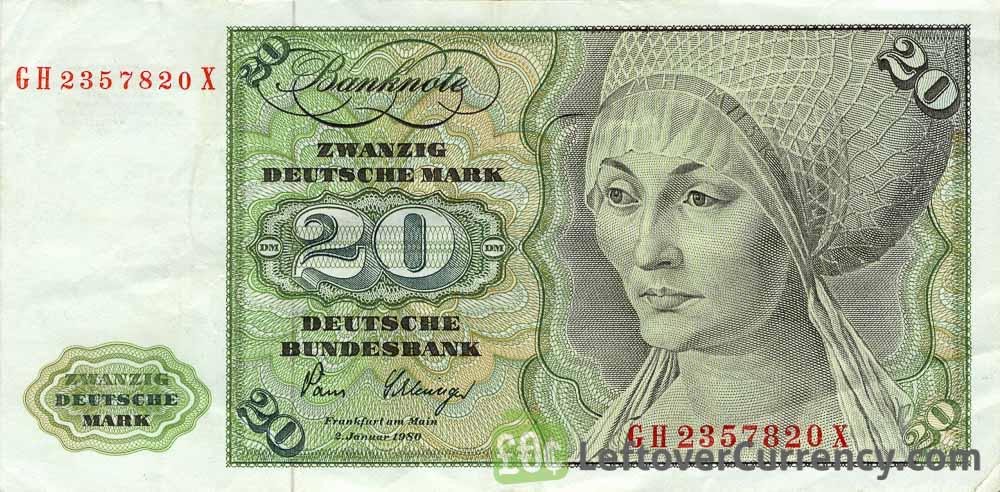 20 Deutsche Marks banknote (Elsbeth Tucher)