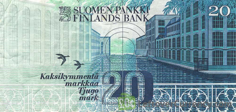 20 Finnish Markkaa banknote (Vaino Linna)