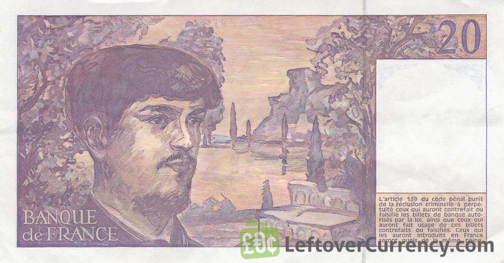 20 French Francs banknote (Claude Debussy)