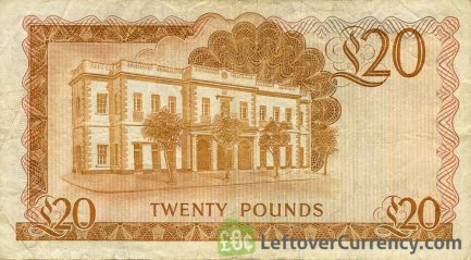 20 Gibraltar Pounds banknote (Governor's house)