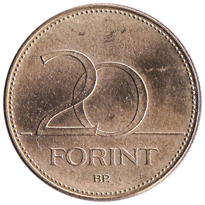 20 Hungarian Forints coin
