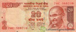 20 Indian Rupees banknote (Gandhi)
