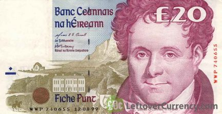 20 Irish Pounds banknote (Daniel O'Connell)