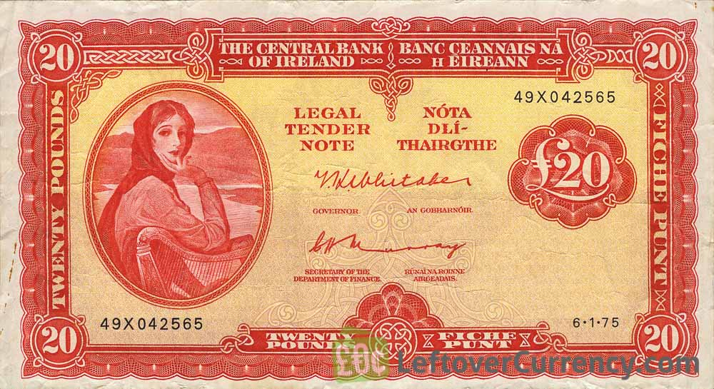 20 Irish Pounds banknote (Lady Hazel Lavery)