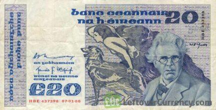 20 Irish Pounds banknote (William Butler Yeats)