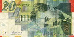 20 Israeli New Sheqalim banknote (Moshe Sharett)