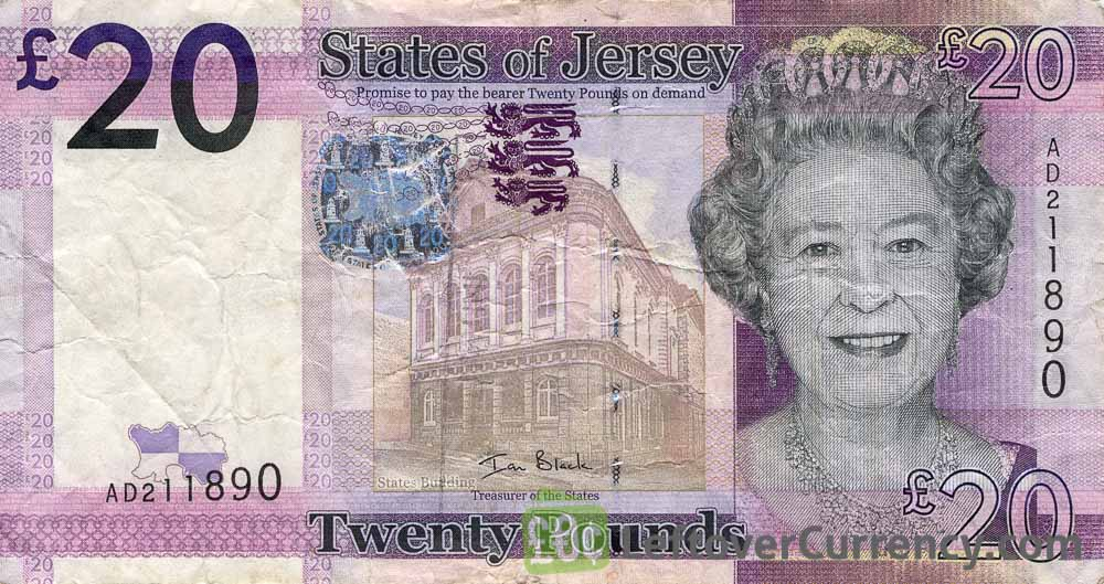 20 Jersey Pounds banknote series 2010