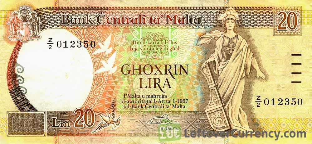 20 Maltese Lira banknote