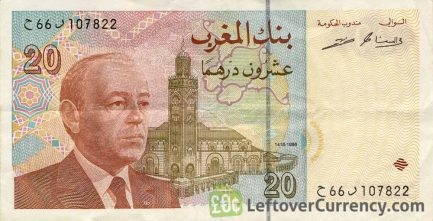 20 Moroccan Dirhams banknote (1996 issue)