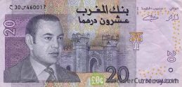 20 Moroccan Dirhams banknote (2002 issue)