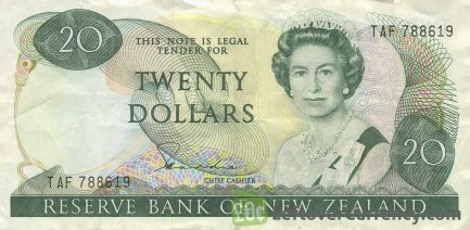 20 New Zealand Dollars banknote series 1981