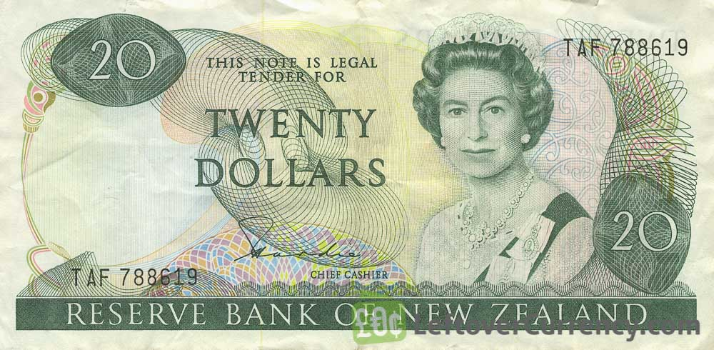 20 New Zealand Dollars banknote series 1981