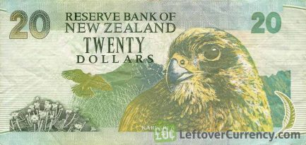 20 New Zealand Dollars banknote series 1992