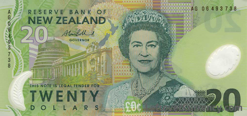20 New Zealand Dollars banknote series 1999