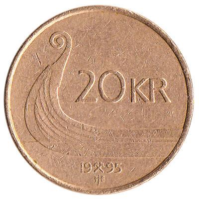 20 Norwegian Kroner coin
