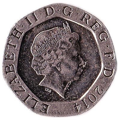 20 Pence coin Great Britain