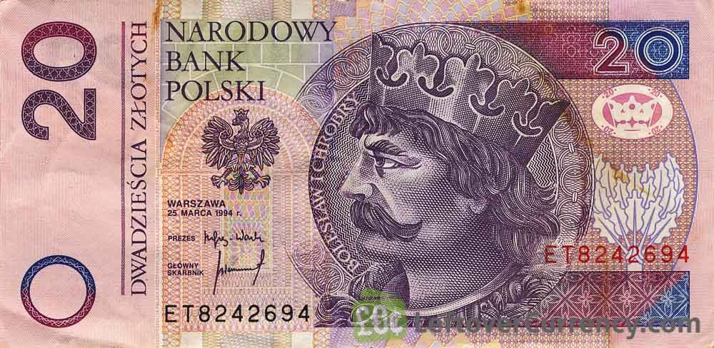 20 Polish Zloty banknote (King Boleslaw I Chrobry)