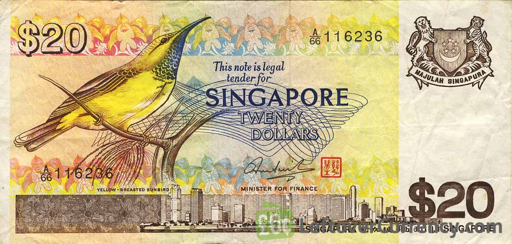 20 Singapore Dollars banknote (Bird series)