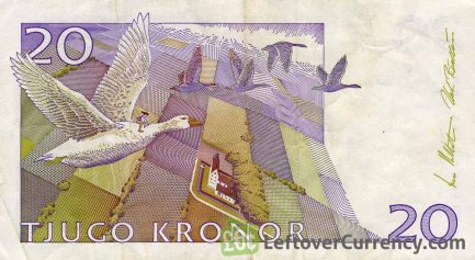20 Swedish Kronor banknote (Selma Lagerlof)