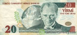 20 Turkish Lira banknote (8th emission group 2005)