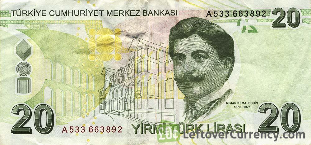 20 Turkish Lira banknote (9th emission group 2009)
