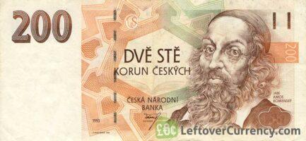 200 Czech Koruna banknote series 1993