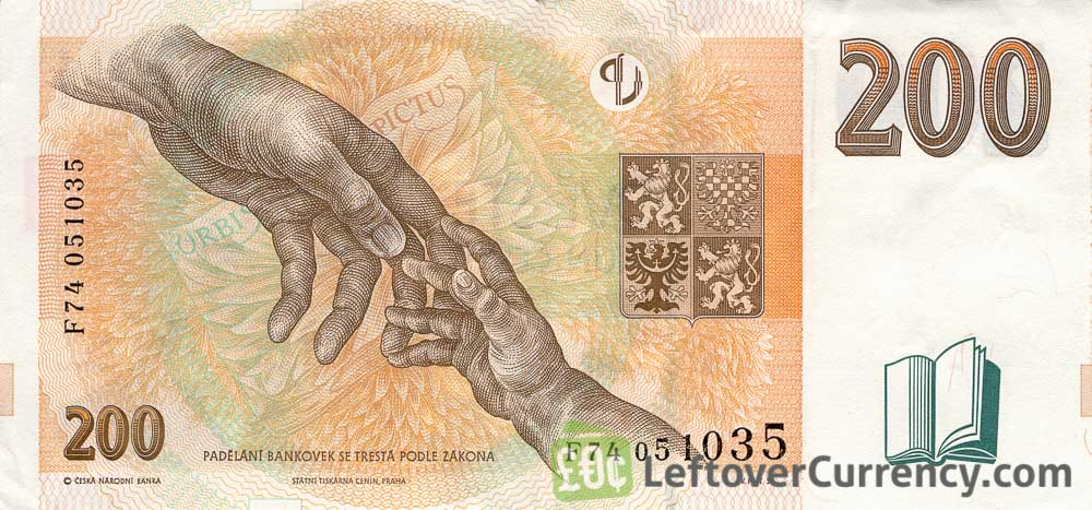 200 Czech Koruna banknote series 1998