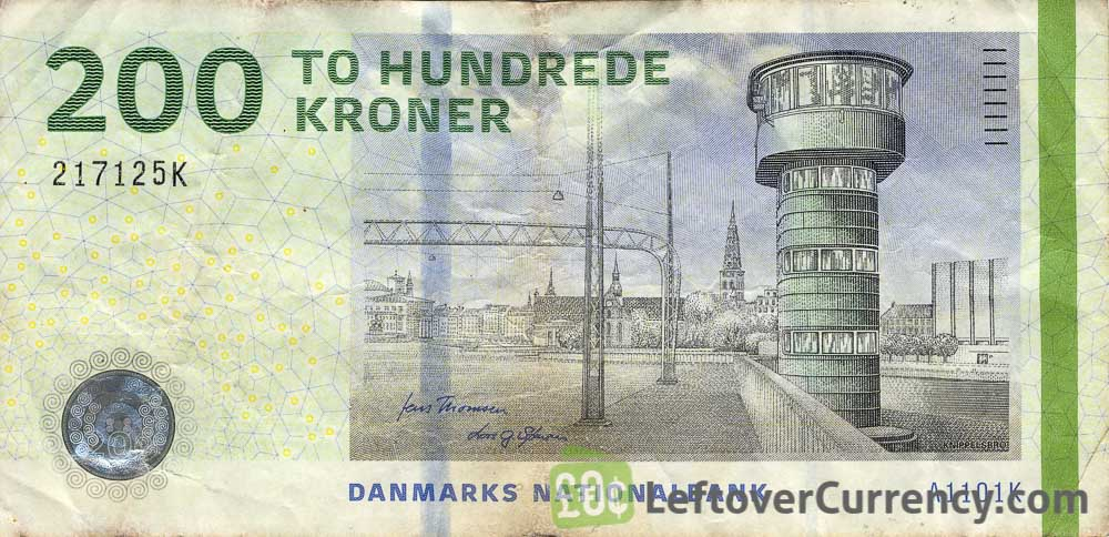 200 Danish Kroner banknote (Bridges of Denmark series)