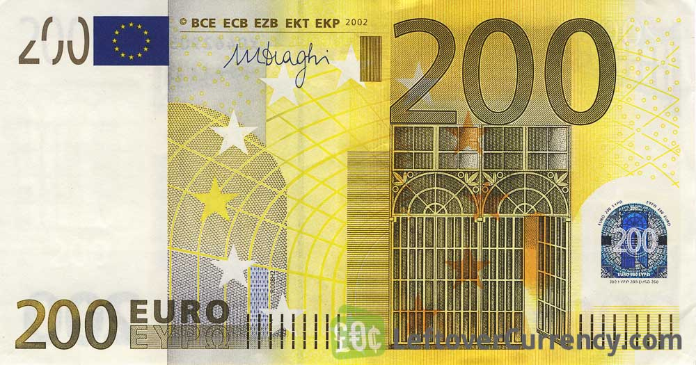 200 Euros banknote (First series)