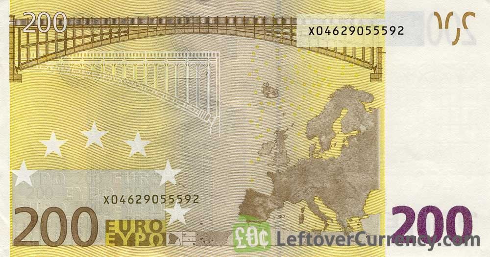 200 euros banknote first series exchange yours for for Wohnwand 200 euro