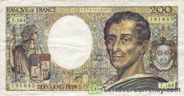 200 French Francs banknote (de Montesquieu)