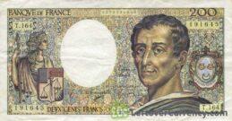 200 French Francs banknote (de Montesquieu)