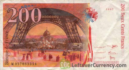 200 French Francs banknote (Gustave Eiffel)
