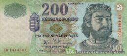 200 Hungarian Forints banknote (King Robert Karoly)