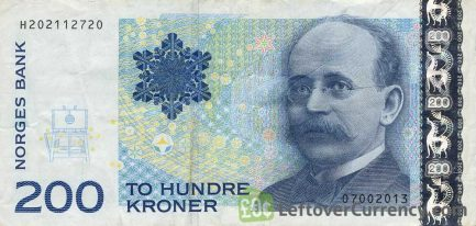 200 Norwegian Kroner banknote (Kristian Birkeland)